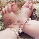 Lắc tay, lắc chân bạc trẻ em TE022