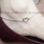 Lắc chân bằng bạc đẹp cho nữ LCNU002