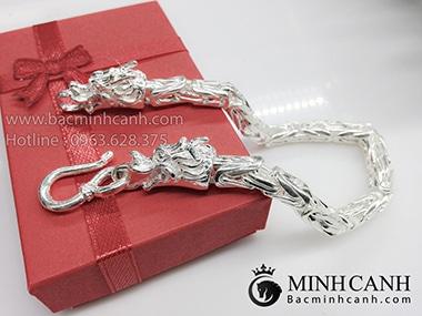 Lắc tay bằng bạc đẹp cho nam LTN002