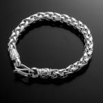 Lắc tay nam bằng bạc đẹp LTN003