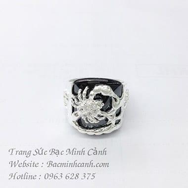 Nhẫn bạc Nam mặt hình bọ cạp NN007