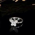 Nhẫn cánh bướm đính đá NNU029