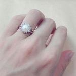 Nhẫn nữ ngọc trai bằng bạc NNU031