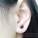 Bông tai bông tai bạc nữ BT001