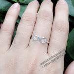 Nhẫn bạc nữ vô cực NNU013
