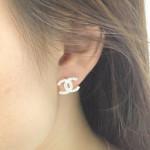 Bông tai Chanel bạc BT010