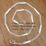 Dây chuyền bạc nam hình côn đẹp DCN015