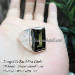 Nhẫn nam mầu xanh rêu NN022