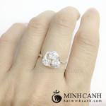 Nhẫn bạc nữ kiểu đơn giản NNU049