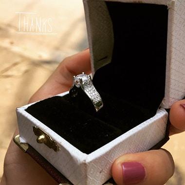 Nhẫn nữ cao cấp đính đá tròn NNU030