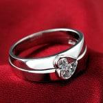 Nhẫn đôi tình yêu bằng bạc
