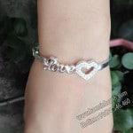 Vòng tay bạc nữ Love Trái Tim LTNU025