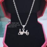 Dây chuyền chữ Love bằng bạc đính đá DCNU116