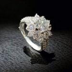 Nhẫn bạc nữ hoa sen quốc hoa NNU042