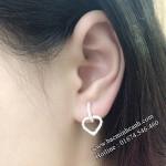 Khuyên tai hình trái tim đính đá BT046