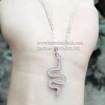 Dây chuyền bạc nữ hình rắn DCNU071