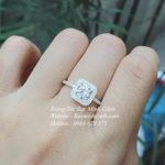Nhẫn bạc nữ mặt đá vuông NNU78