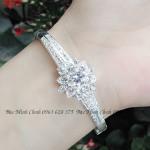 Lắc tay bạc nữ hoa sen quốc hoa LTNU070