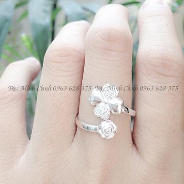Nhẫn bạc nữ đem lại may mắn NNU068