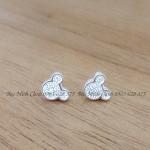 Bông tai chuột Mickey bạc BT061