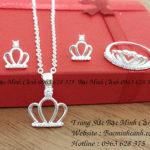 Bộ trang sức bạc nữ vương miện BTS015