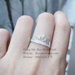 Nhẫn vương miện nữ đính đá NNU095