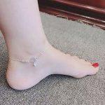 Lắc chân Kim Tiền bằng bạc đón tài lộc LCNU077