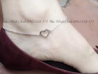 Top nhưng kiểu lắc chân bạc nữ họa tiết trái tim được yêu thích nhất