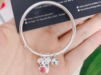 Bộ sưu tập lắc bạc charm chuột cho các bé sinh năm Canh Tý 2020