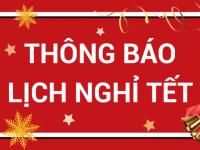 Bạc Minh Cảnh thông báo lịch nghỉ tết Tân Sửu 2021