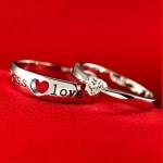 Nhẫn đôi Endless Love bằng bạc