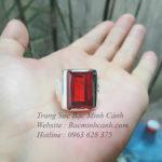 Nhẫn bạc nam mặt đá NN004
