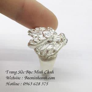 Nhẫn bạc Nam đầu rồng NN006