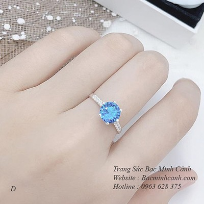 Nhẫn nữ đá xanh NNU016