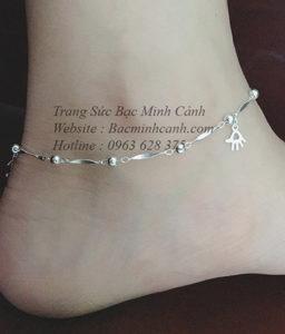 Lắc chân bạc nữ hot LCNU026