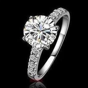 Nhẫn nữ một hàng đá NNU023