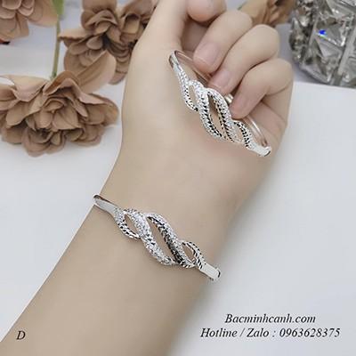 Vòng tay bạc nữ dạng sóng LTNU116