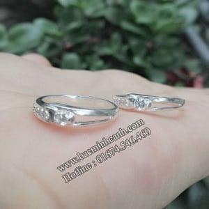 Nhẫn cặp bằng bạc đẹp giá rẻ