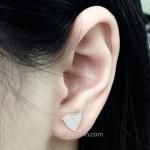 Bông tai bạc nữ giá rẻ BT007