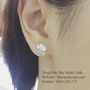 Bông tai hình Cá Heo đáng yêu BT050