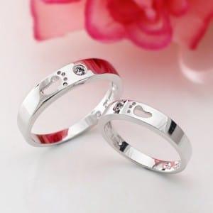 Nhẫn đôi vững bước bằng bạc