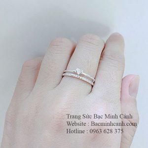 Nhẫn Midi Ring trái tim NNU008