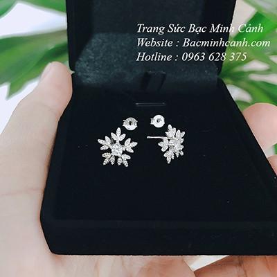 Bông tai bạc hoa tuyết, bông tuyết BT036