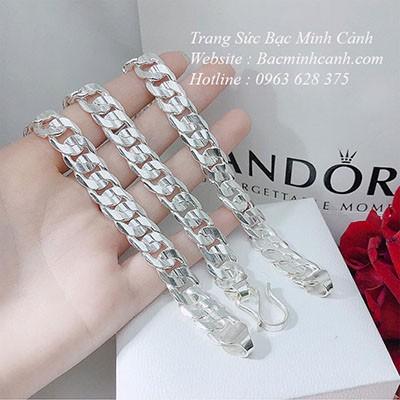 Lắc tay bạc nam kiểu đơn giản LTN015