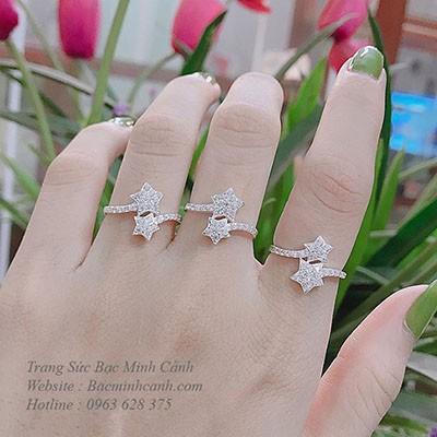 Nhẫn nữ sao đôi NNU045