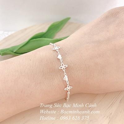 Vòng đeo tay bằng bạc cho nữ LTNU036