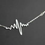 Dây chuyền nhịp tim bạc DCNU053