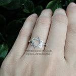 Nhẫn bạc nữ đơn giản NNU080