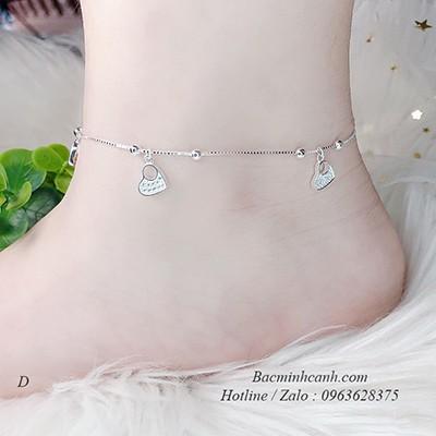 Lắc chân bạc dễ thương LCNU014