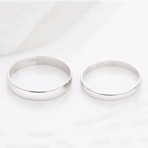 Nhẫn đôi bạc tròn trơn